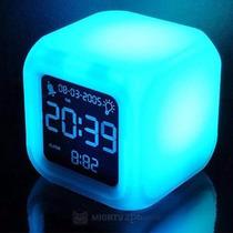 Reloj Despertador Cubo Digital Led Luz Color*tiendadenda*