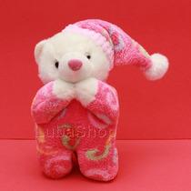 Urso De Pelúcia Que Reza O Pai Nosso Com Pijama Rosa