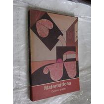 Libro Año 1988 , Matematicas Cuarto Grado , 253 Paginas , M