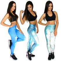 Kit 10 Calça Legging Fake Jeans Sublimada Atacado Revenda