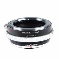 Adaptador Lente Nikon G Para M43 Panasonic Blackmagic Jvc