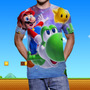 Espectacular Camiseta Videojuegos Mario Pokemon Zelda League