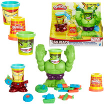 Massinha Play-doh - Esmaga Hulk Marvel - Hasbro