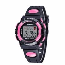 Relógio Digital Synoke Esportivo Cronômetro Alarme Crianças