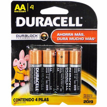 Bateria Pilas Alcalinas Duracell Aa Y Aaa Co 4 Pilas Blister