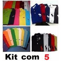 Kit 5 Camisas Polo + 5 Cuecas Calvin Klein * Frete Grátis*