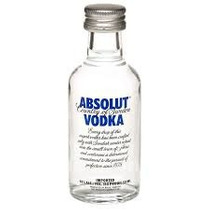 Miniatura Vodka Absolut- Tradicional - Mini Garrafa