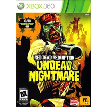 Red Dead Redemption Undead Nightmare Xbox 360 Mídia Fís Lacr