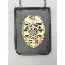 Placa De Heroico Cuerpo De Bomberos Tipo Policia Federal