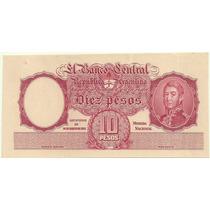 Muestra Billete 10 Pesos Año 1935 Sin Firmas Ni Numeros