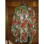 Hermosa Blusa Estampado De Flores (tela Importada)