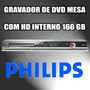 Gravador De Dvd De Mesa Philips Dvdr3455h Hdd Interno 160 Gb