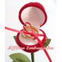 1 Caixa De Veludo Rosa Com Cabo Porta Alianças, Anel Noivado