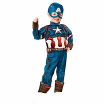 Disfraz Avengers 2 Capitan America 2/4 Años Entrega Inmediat