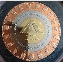 Preciosa Medalla Trimétalica De Chichén Itza Cultura Maya