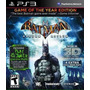 Jogo Ps3 Batman Arkham Asylum 3d - Goty Edition