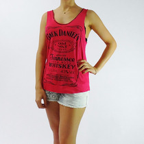 Regata Feminina Cavada - Cor Pink- Verão - Jack Daniels