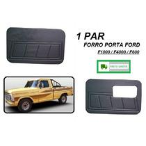 Par Forro Porta Caminhão Ford F1000 F4000 F600 Preto