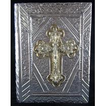Biblia Boda Repujado Cruz Cristal 01 23cm X 17cm