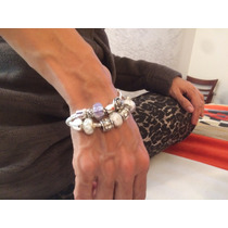 Pulseras Tipo Pandora De Plata Con Cristal Muranomurano
