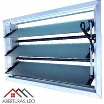 Aireador Ventiluz Aluminio Natural 100x36 Reja Y Mosquitero