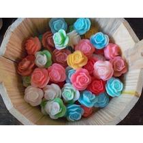 100 Mini Rosas Sabonete Lembrancinha Noivado Casamento Bodas