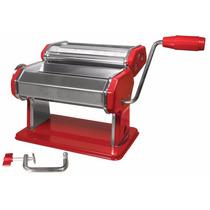 Maquina Roja Para Hacer Pasta Fresca + Libro De Recetas