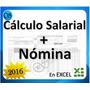 Combo Hoja Cálculo Salarial + Nómina En Excel + Obsequio