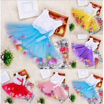 Vestido Infantil Flores Festa Luxo Importado