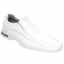 Sapato Branco Couro Legítimo Médico Enfermagem Veterinário