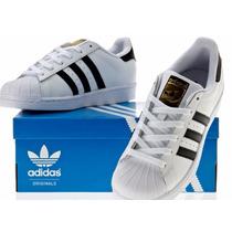 Tênis Adidas Superstar Foundation Original Em Couro Promoção