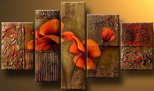 Cuadros Dipticos Tripticos Modernos Florales 2 415 76 En Mercado