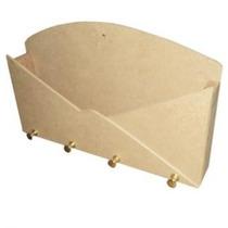 Porta Chaves E Cartas Envelope Em Mdf Cru