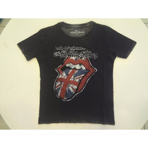Camiseta Ellus Kids The Rolling Stones - Preto