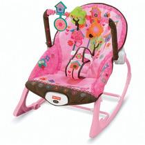 Cadeira Balanço Infância Sonho Rosa Fisher Price Original