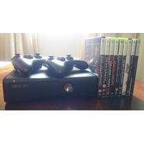 Xbox360 4gb Travado Kinect Kit Hdmi + 9 Jogos Originais