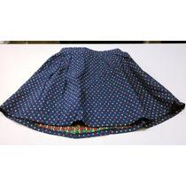 Falda Corta Tejida Azul Pretina Elasticada