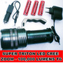Super Potente Linterna Tactica Zoom Led Cree 100000 Lumen T6