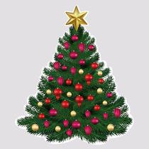 Adesivo De Vitrine Árvore De Natal Para Campanhas Em Lojas
