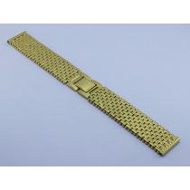Pulseira Relógio Dourada Aço Inox 20mm - Seiko Citizen Casio