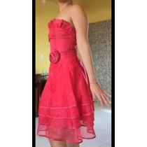 Lido Vestido Vermelho Para Frsta De 15 Anos, Formaturas