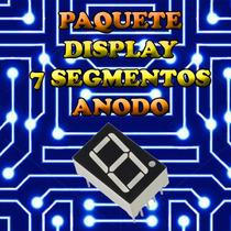 Paquete (10 Pzas) Display 7 Segmentos Anodo Comun Rojo