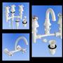 Combo Griferia Plástico Pvc Bidet+lavatorio+mezcladora Pared