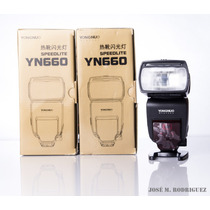Nuevo Flash Yongnuo 660 Radio Integrado Canon Nikon Sony