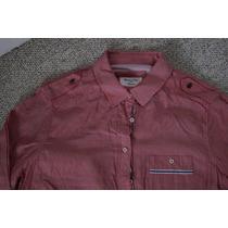 Camisa Blusa Massimo Dutti Rosa Mujer Talla L, 42 Mx