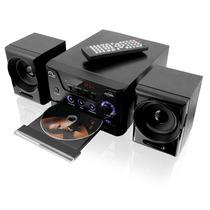 Mini System Multilaser Sp141 Preto Com Dvd Player Usb Rádio