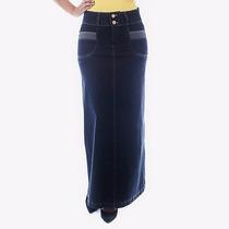 Saia Jeans Longa C/ Detalhe Bolsos (38 A 52)