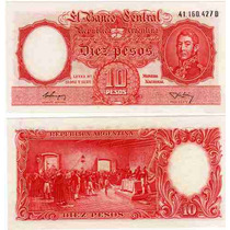 Billete 10 Pesos Moneda Nacional Excelente+