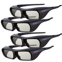 Kit 4 Lentes 3d Activos Sony Tdg-br250b Anteojos Gafas