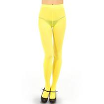 Pantimedia Semi Opaca Amarillo Talla Chica Envio Incluido